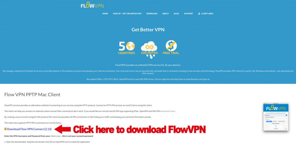 Download FlowVPN Client